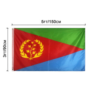 Eritrea Flags Country National Flags 3'X5'ft 100D Polyester Hot Sales High Quality With Two Brass Grommets