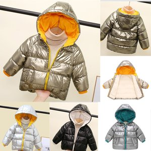 Thicken Winter Jacket For Girls Fashion Kids Parkas Overalls Hooded Children's Clothing For Boys Fleece Jacket Outdoor Coats Q1126