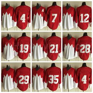 Vintage Hockey su ghiaccio 7 Phil Esposito Jersey 1972 Team retroor 19 Paul Henderson 28 Bobby Clarke 35 Tony Esposito Bobby Orr Yvan Cournoyer