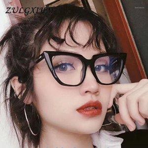 Zulgxihm Retro Katzenaugen Gläser Rahmen Marke Vintage Frauen Optical Klare Gläser Myopie Rahmen Eyewear1