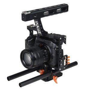 Stabilisateur de poignée de cage de caméra Puluz pour Sony A7 A7S A7R A7R II A7S II A7RIII A7 III Panasonic Lumix DMC-GH4