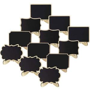 Mini Blackboard 10 * 7.5 cm Stand in legno Lavagna 6 disegni Forma della nuvola Mini Blackboard Wedding Shopwindow Articoli Display S 89 G2