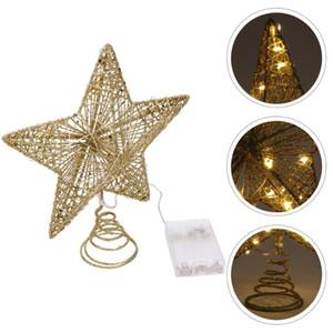1Pc Exquisite Star Hanging Decor Pentagram Pendant Shiny Christmas Tree Ornament