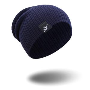 Новая мода дизайнер пуловер шляпа открытый спорт теплый вязаный колпачок осень и зима сплошной цвет шерстяной шапочки
