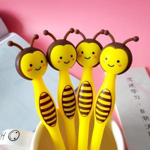 50pcs Cartoon Little Bee Gel Pen Creativo Cute Cancelleria Studente Penna Black Pen Bambini Gifting Y200709