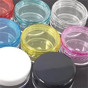 Tarros de cosméticos de fondo redondo Vacío de contenedor portátil por separado Eyes de almacenamiento Cara de plástico Caja de plástico Moda transparente 0 13JL F2