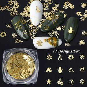 Mixed Style Nail Art Moon Star Gold Metal Rivet Studs 3D DIY Charm Decoration Accessories Jewelry Glitter Manicure Stone 0470
