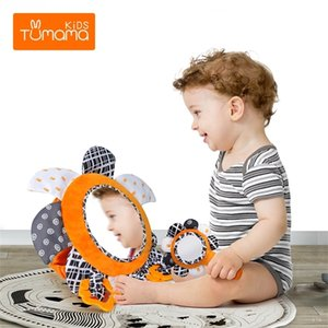 TUMAMA Baby Tummy Time Activity Development Stroller Haning Mirror Toys for Newborn Safety Car Back Seat Q1121