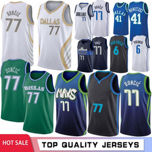 Luka NCAA 77 Doncic College Men Basketball Jerseys Kristaps 6 Porzingis Dirk 41 Nowitzki Stephen 30 Curry 2021 Hot Sale
