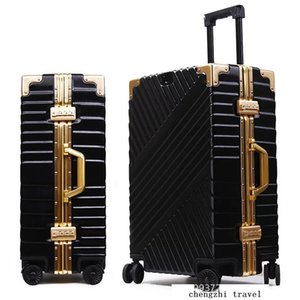 """Carrylove 20""""24""""26""""29"""" inch aluminium frame suitcase box strong business trolley luggage bag on wheels LJ200928"""