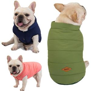 Pet Köpek Giysileri Moda Kış Sıcak Köpek Ceket Fransız Bulldog Yelekler Köpek Giyim Pet Köpekler Aksesuarları DHL Ücretsiz Kargo