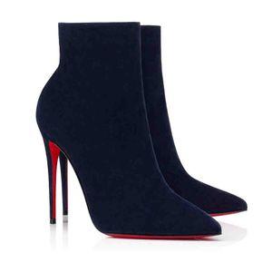 Lüks Tasarımlar Cate Çizmeleri Kadınlar için, Bayanlar Kırmızı Alt Tabanlar Kırmızı Ayak Bileği Çizmeler Zincirler Paltform Topuklu Adox Eloise Booty Kış Marka Boot