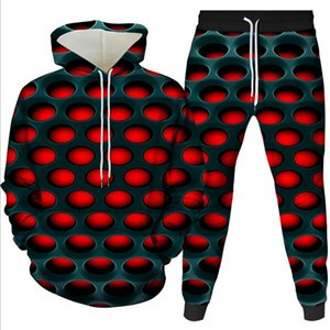 Fashion new hot sale of plus-size series 3D digital printing suit hooded 2 pieces