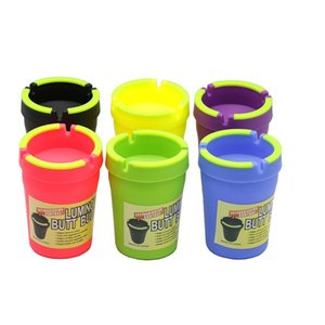 1PC New Extinguishing Ashtray Butt Bucket Cigarette Pipe Tools With Luminous Remove Odors Smoking Accessories Ashtray T200307
