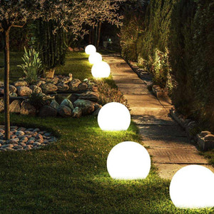 Modern Rechargeable Color LED Ball Light Spherical Ball Light with Remote Control, Home Pool Party Dimmable Night Light 12cm