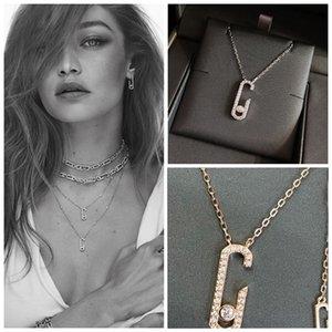 Europäische 925 Sterling Silber Kerbe Anhänger Fine Schmuck für Mutter Frauen Messika Halskette Heißer Verkauf Berühmte Marke Frankreich Q1120