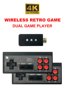 4K HD Video Game Player Wireless Handheld Game Joystick HDMI 600 Retro Classic Games Wireless Portable Game Consoles Dual Players