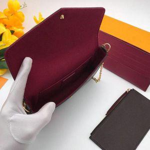 السيدات félicie pochette سلسلة حزام حقائب الكتف 3 قطعة مجموعة المرأة النقش يد حقيبة crossbody محافظ بطاقة حامل محفظة 3 في 1 M61276