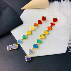 Popular Love Long Pendant Epoxy Fashion Designer Earrings luxury designer jewelry women earrings