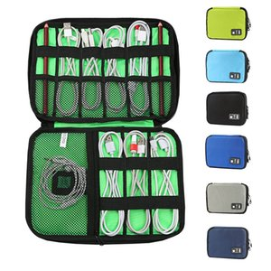 Multi-Function Electronics Organizer Data Cable Storage Bag Portable Zip Waterproof Trave Cable Organizer Bag 16colors HHA1678