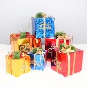 christmas luxury gift box flower flower bouquet boxes gold color laser gift box Christmas tree decorations candy box party supplies