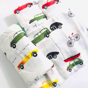 Q4 blanket baby diaper muslin swaddle blankets quality better Aden Anais bath towel cotton Infant Wrap Q1117