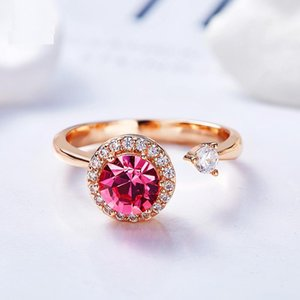 Wedding Ring Crystal from the swarovski element S925 sterling silver Rotating ring girlfriend gift with box