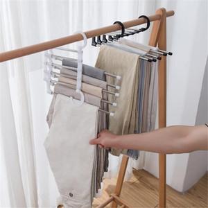 Hot home housekeeping multifunzione appendiabiti appendiabiti pantaloni stoccaggio pantaloni cloth ganci di storage rack multistrato gancio di stoffa gancio armadio organizzatore
