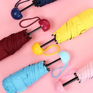 كبسولة البسيطة جيب مظلة واضح الرجال مظلة يندبروف مظلات للطي 5 لون المرأة مدمجة المطر مظلة صغيرة البحار الشحن KKA2966