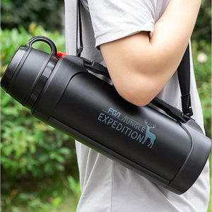 Heat preservation kettle large-capacity outdoor travel water cup Men's portable oversized stainless steel bottle