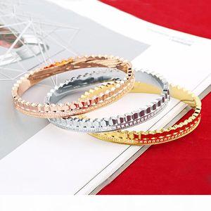 2020 Diamond shaped ring concave and convex inner curvature design bracelet fashion mens bracelets diamond tennis bracelet bracciali jewelry