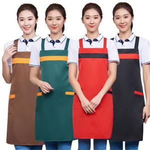 Пустой фартук мужские женщины бытовые водонепроницаемые противоречие моды фартук пользовательских дизайна логотип кухня рекламные фартуки оптом DBC 22 к2