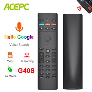 G40 Voice Remote Control 2.4G Wireless Air Mouse 33 Keys With 6 Gyroscope IR Learning For Android TV Box H96 X96 Max Plus X3