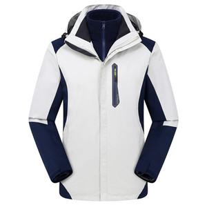 2020 winter Factory direct outdoor three-in-one jacket custom logo plus velvet thickening male women's mountaineering