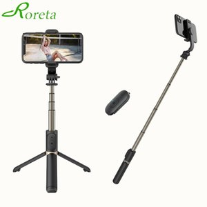 High-quality aluminum alloy 4 In1 Bluetooth Wireless Selfie Stick Tripod Foldable Monopods Universal for Smartphones Cameras Y1128