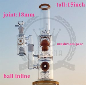 heady glass bong with downstem dab rig oil rigs water pipe bongs with quartz banger herb bowl bongs