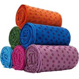 Yoga cobertores toalhas de silicone ponto antiderrapante yoga toalha tapetes fitness exercício blank place camping toalhas de praia pilates pads m3106