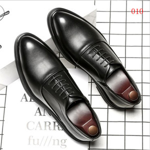 2021 Men's Breathable Brand Designer Flat Shoes Top Quality Comfortable Business Party Wedding Dress Shoes Size 38-44