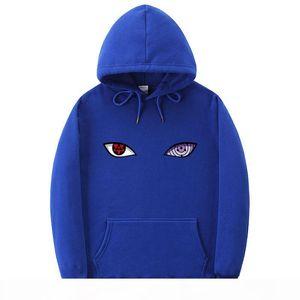 2019 New Arrival Harajuku Anime Hoodies Uchiha Uzumaki Hatake Eyes Printing Pullover Sweatshirt Hip Hop Streetwear