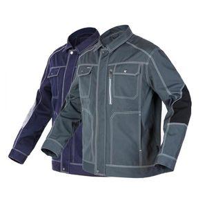 Erkek Çalışma Üniformaları İlkbahar Ve Sonbahar Mont Workwear Ceketler Halk Safari Stil Kargo Giysi Boyutu 3XL Fermuar ile