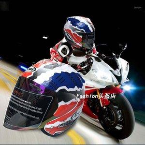 Motorcycle Half Helmet Safety Flip Up Motorcycle Racing Off Road Helmet Capacete Dot certificate summer season1