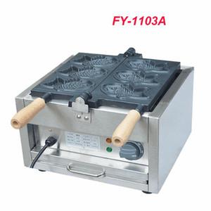 1 ADET Elektrikli Bir Plaka 3 Balık Taiyaki Maker Makinesi Snapper Makinesi Tarif Balık Waffle Baker FY-1103A 110 V / 220 V