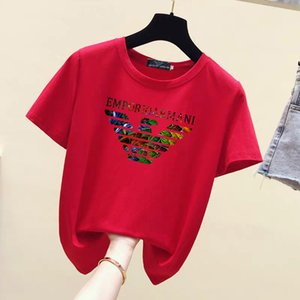 t shirt 19ss new European and American fashion personality big V letter printing cotton T-shirt youth