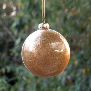 Free Shipping Small Packing Gold Yellow Series Glass Globe Christmas Tree Pendant Different Diameter 6cm 8cm 10cm 12cm 15cm 20cm