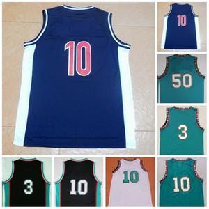 Vintage 50 Reeves Basketball Jersey 10 Men Bibby 3 Abdur-Rahim Abdur Rahim Green Black