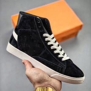 Sapatos de Plataforma Mens Blazer Meados Vintage Camurça Designer Sapatilhas de Couro de Alta Qualidade Moda Mulheres Na Moda Casual Sapatos