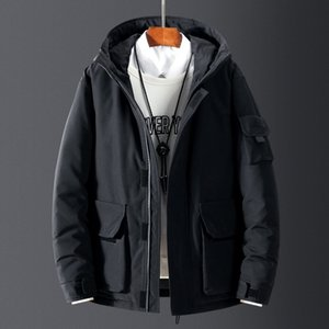 Autumn and Down Jacket Men's 2020 Winter New Canadian Style Outdoor Tooling Thickened Lovers' Fashionable Goose Coat