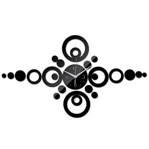 special offer modern design mirror wall acrylic clock 3d quartz watch living room home decor diy wall sticker