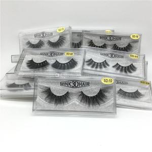 Eyelash 3D Eye makeup Mink False lashes Soft Natural Thick Fake Eyelashes Extension Beauty Tools 20 styles DHL Free