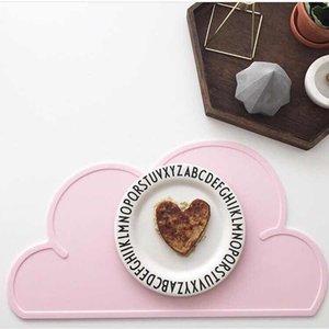 BPA Free Nordic Style Wolke Form Tischsat Baby Umweltfreundliche Silikontisch Place Matte Tragbar Leicht zu reinigen AT114 Y1127
